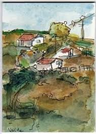 Image result for line and wash watercolor and pen techniques