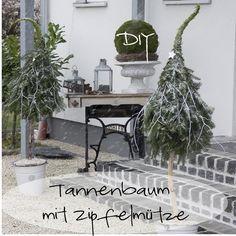 DIY Tannenbaum mit Zipfelmütze