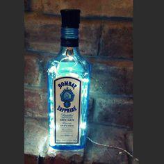 Bombay Sapphire Gin Bottle Lamp