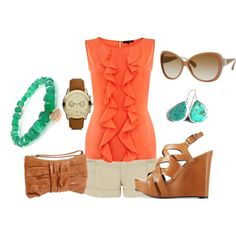 Coral, created by roxyd on Polyvore