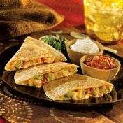 Mexican Four Cheese and Chicken Quesadilla - Campbell's Kitchen - Pace - Delish.com