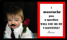 Mustache Valentine I Used Walmart 1 Hour Printing And Ipiccy To