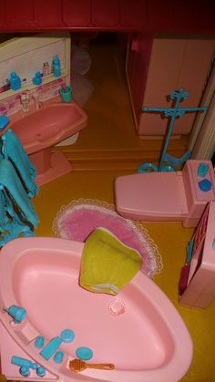 Bathroom of the Barbie A-Frame Dreamhouse by Mattel, 1978