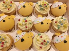 Pudsey Children in Need cupcakes Children In Need Cupcakes, No Bake Cake, Fundraising, Baking, Desserts, Food, Tailgate Desserts, Deserts, Bakken