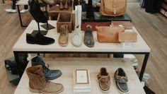Women's shoe display