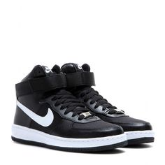 Nike - Nike AF-1 Ultra Force Mid sneakers - Nike's 'AF-1 Ultra Force Mid' sneakers prove a footwear staple for comfort and style. The high-top silhouette is rendered in a mix of leather and fabric, in ever-cool black and white. The rubber sole is designed for traction and durability, while an ankle strap provides support while you're on the move. seen @ www.mytheresa.com