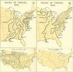 """How fast could you travel across the U.S. in the 1800s? ➖ """"In the 1800 traveling a few hundred miles across the U.S. meant taking a steam-…"""