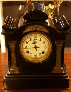 metal antique ansonia clock
