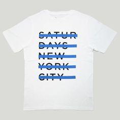 Saturdays Surf NYC : サタデーズサーフ ストライクスルーTシャツ ホワイト Strikethrough T-Shirt White   Sumally (サマリー)