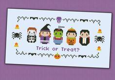 Halloween costumes sampler - PDF cross stich pattern