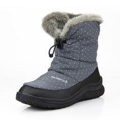Dot Fur Lining Folded Boots