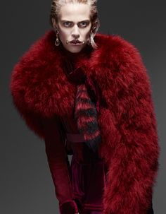 the scarlet passion: aymeline valade by liz collins for vogue japan november 2015 | visual optimism; fashion editorials, shows, campaigns & more!
