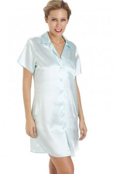 9b181d7b3c Camille Womens Ladies Luxurious Knee Length Mint Green Satin Nightshirt 10  GREEN   Find out more about the great product at the image link.