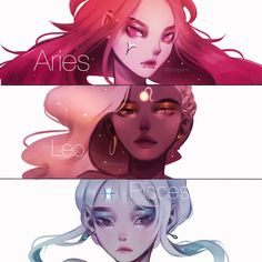 2 -- again 1 hour each (post 10 minutes color adjustment & text) - Also thank you so much for I really appreciate… Zodiac Signs Leo, Zodiac Art, 12 Zodiac, Zodiac Horoscope, Aries Art, Anime Zodiac, Poses References, Cute Drawings, Character Art