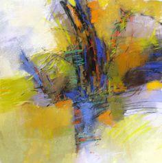 Impression of Autumn 14x14 pastel by Debora L. Stewart