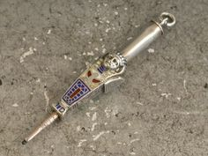 Continental Silver & Enamel Novelty Egyptian Mummy Propelling Pencil, c1920