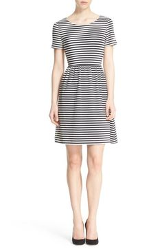 kate spade new york twist back stripe dress available at #Nordstrom