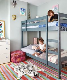 Boy And Girl Shared Room, Boy Girl Room, Girl Rooms, Cool Bunk Beds, Bunk Bed Designs, Shared Bedrooms, Kid Bedrooms, Girls Bedroom, Childs Bedroom