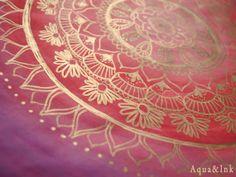 Purple Mandala  Original Art  Watercolor Painting by AquaAndInk, $120.00