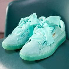 PUMA Women's Shoes - Puma Cara Delevigne Sneakers - Find deals and best selling products for PUMA Shoes for Women Girls Sneakers, Bow Sneakers, Girls Shoes, Puma Basket Heart, Buy Shoes Online, Kinds Of Shoes, Suede Shoes, Women's Shoes, Pumas Shoes