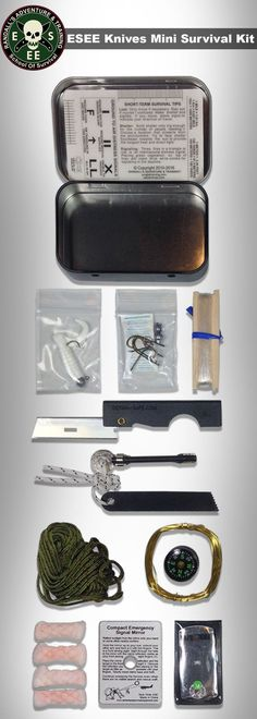 Designed by Randall's Adventure & Training, the Izula Gear Mini-Kit is a pocket-size survival kit tin that is perfect for keeping your essential items safe and undamaged. It measures x x 0 Survival Equipment, Survival Tools, Wilderness Survival, Camping Survival, Outdoor Survival, Survival Knife, Survival Prepping, Emergency Preparedness, Survival Hacks