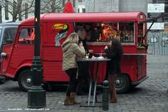 Citroën HY food truck in Brussels