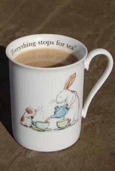 everything stops for tea , Whittard of Chelsea-my last one broke last week. Love these mugs