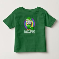 Shop Happy Saint Patrick's Day Toddler T-shirt created by templeofswag. Happy St Patricks Day, Tshirt Colors, Fitness Models, Saints, Casual, Irish, Fabric, Mens Tops, How To Wear