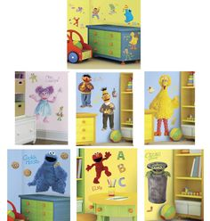 1000 images about sesame street wall decor on for Elmo wall mural