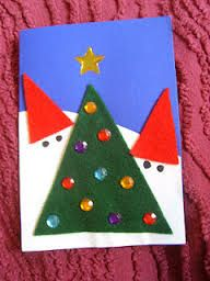 joulukortti ideoita - Google-haku Christmas Crafts, Xmas, Christmas Tree, Teaching Kindergarten, Preschool, Diy Design, Crafts For Kids, Triangle, December