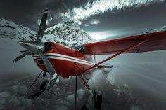 Cessna 185 Skywagon by Michelle Saraswati - #Denali - #Alaska