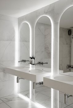 Meme Design Materializes Melbourne Event Venue With Marble And Mirrors Luxury BathroomsPublic