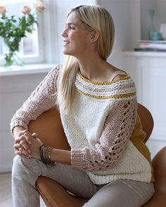 nice sleeve detail, free pattern in Daninsh Crochet Designs, Knit Cardigan, Karry, Hand Knitting, Smuk, Knitting Patterns, Knit Crochet, My Design, Pullover