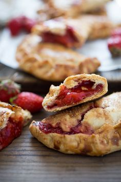 These little Strawberry Hand Pies, or Strawberry Turnovers --are like summer wrapped up in buttery pie crust. They are packable and transportable-- perfect for picnics and summer barbecues when you don't want to deal with dessert plates and forks. Simply pick them up and eat them.  www.feastingathome.com