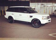 Black on white Range Rover Sport