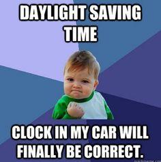 Daylight Savings Time... set your clock :)