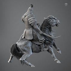 Speed painting Mongol warrior