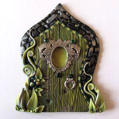 The Green Fairy Fairy Door Pixie Portal Absinthe by Claybykim
