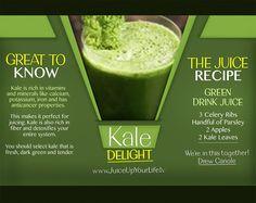 Kale Delight Recipe!  Start your Juicing Journey: http://www.juiceupyourlife.tv/juiceupyourlife-1/