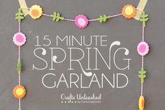 15 Minute Spring Flower Garland
