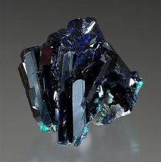 Azurite - Tsumeb, Namibia ex. Nauke Oechslin Collection / x x cm / Arkenstone Rare Gemstones, Minerals And Gemstones, Rocks And Minerals, Rock Flowers, Mineralogy, Mineral Stone, Rocks And Gems, Gemstone Colors, Stones And Crystals