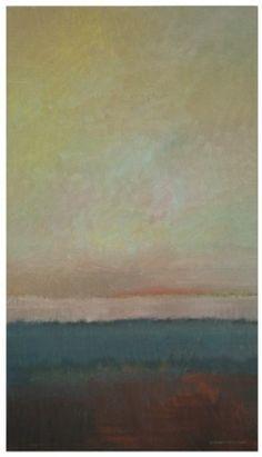 Orange Horizon  oil on canvas  20'' X 36''