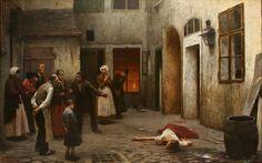 Jakub Schikaneder (1855-1924): Murder in the House, 1890