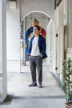 SHENTONISTA: Quick Quip. Wayne, Writer. Jacket from Kapok, Shirt from YMC, Pants from Ermenegildo Zegna, Shoes from New Balance. #shentonista #theuniform #singapore #fashion #streetystyle #style #ootd #sgootd #ootdsg #wiwt #popular #people #male #female #womenswear #menswear #sgstyle #cbd #Kapok #YMC #ErmenegildoZegna #NewBalance
