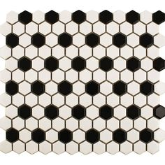 Refresh a wall or floor with these black and white Bijou Matt Chequer Hexagon Mosaic Tiles. They're made from durable porcelain and have a hexagonal design. Hexagon Tile Bathroom Floor, Hexagon Mosaic Tile, White Mosaic Tiles, White Wall Tiles, Tile Floor, Floor Grout, Wet Room Flooring, Wall Tile Adhesive, Honeycomb Tile
