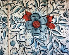 Norwegian rosemaling.  I would love to use the designs to custom paint some blankets or other items for home, just like bestemor's stuff!