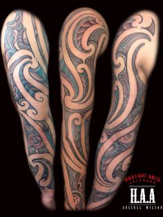 Ta Moko sleeve by Russell Wilson HAA -Huatahi Arts Aotearoa Full Body Tattoo, Body Art Tattoos, Sleeve Tattoos, Polynesian Tribal Tattoos, Maori Tattoos, Scale Tattoo, Maori Tattoo Designs, Maori Art, Different Tattoos