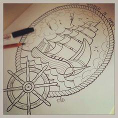 Old School Tattoo Ship