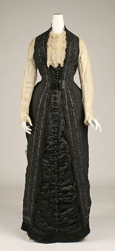 Dress  Date: 1877 Culture: European Medium: silk