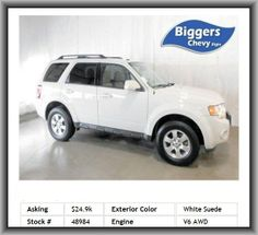 2012 Ford Escape Limited SUV  Rear Defrost, Four Wheel Drive, Bucket Seats, Tires - Rear All-Season, Am/Fm Stereo, Am/Fm Stereo, 6-Speed A/T, Power Windows